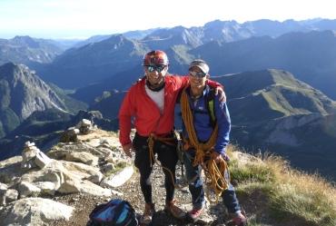 Sergio y Fede San Sebastian en la cumbre del Midi d'Ossau