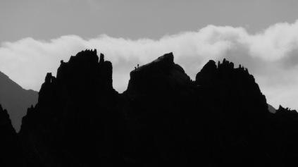 Javi y Oscar en la Cresta del Diablo, Balaitus