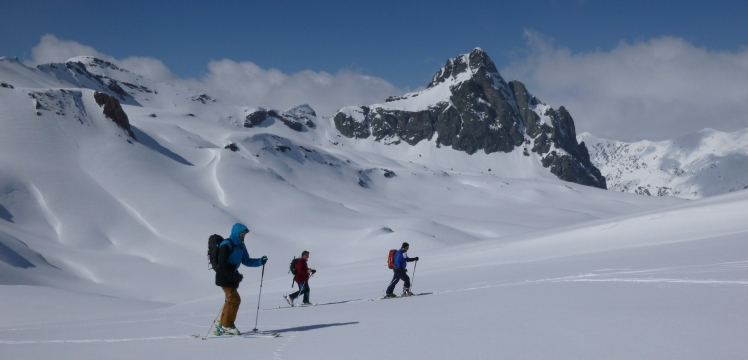 Iniciación al esquí de montaña con guía