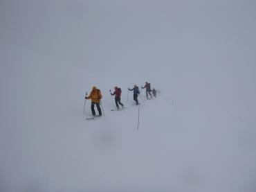 Nevada y niebla cerrada en las inmediaciones del Roseblanche