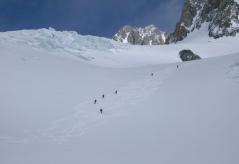 Bajando por el Glaciar de Amathystes