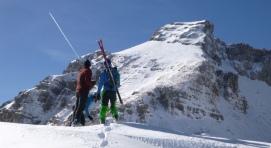 Ibon y Javi ante la Sómola Alta