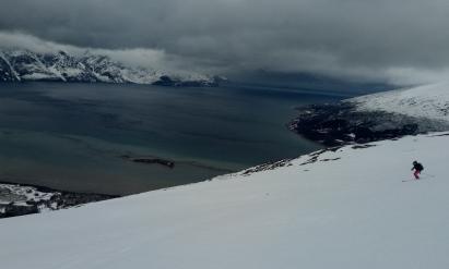 Skiing in Lyngen Fjord, Norway