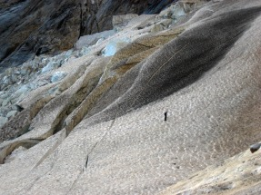 Oulettes glacier during the approach