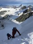 último metros hacia l apunta Castor, 4,200m