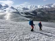 Vistas hacia el Macizo del Monte Rosa